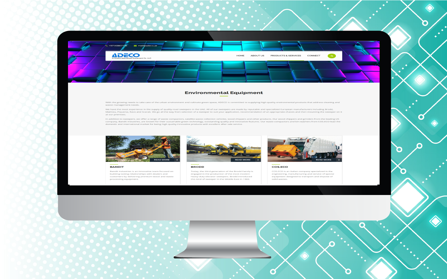 ADECO website design