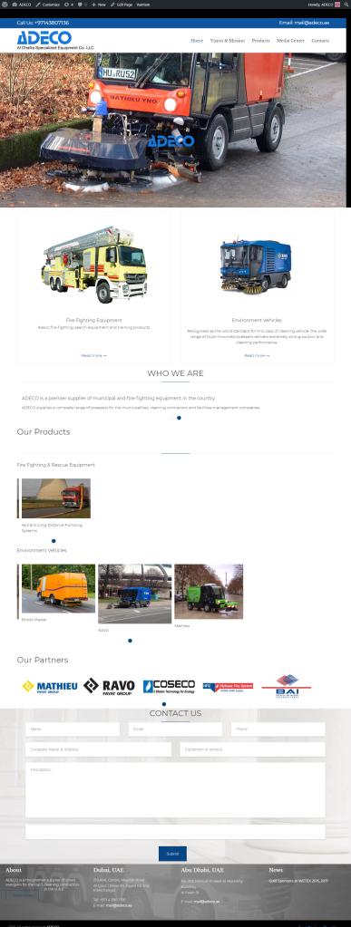 Adeco original homepage
