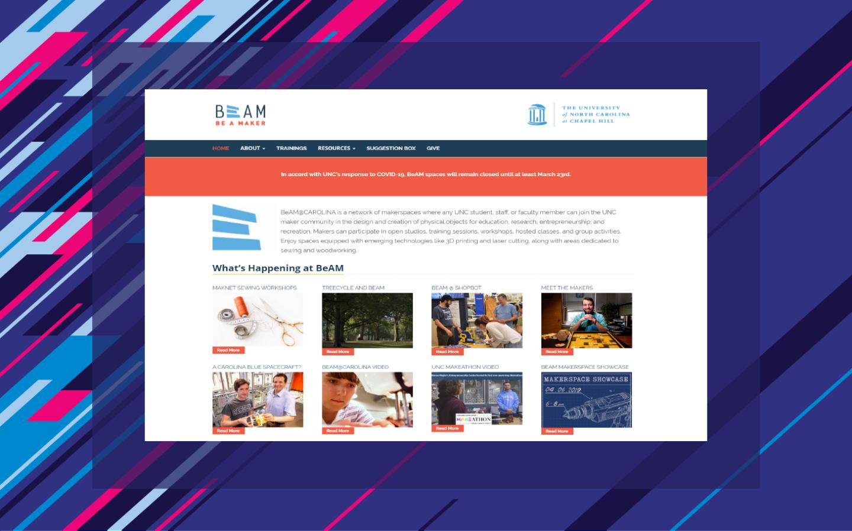 BeAM makerspace homepage